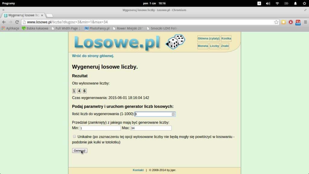 Zrzut ekranu wyniki rozdawajki w Rumpelowie