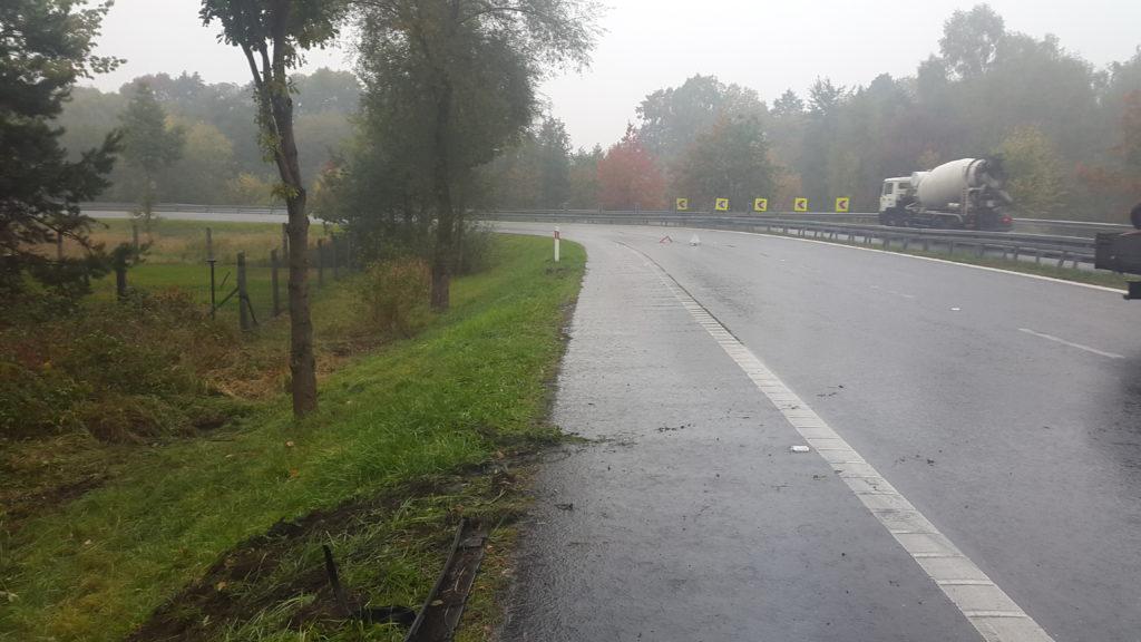 feralny zakręt na obwodnicy Kędzierzyna-Koźla